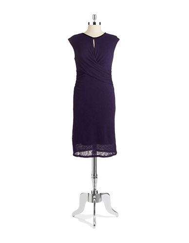 NINE WESTRuched Keyhole Dress