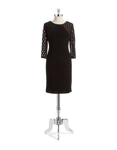 ANNE KLEINTribal Lace Sheath Dress