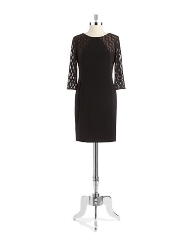 Shop Anne Klein online and buy Anne Klein Petite Lace Accented Shift Dress dress online