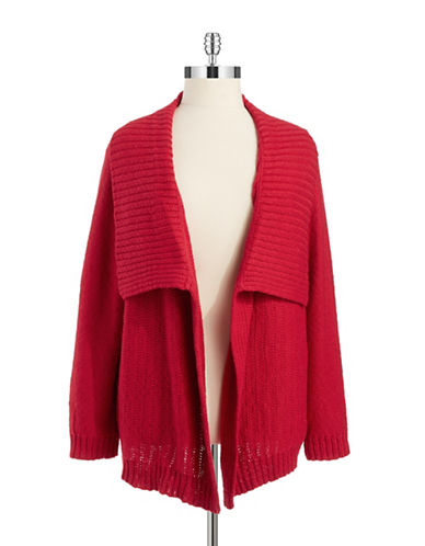 Jones New York Plus Plus Drape Front Cardigan