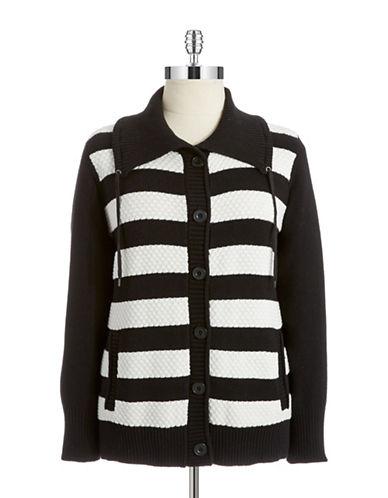 Jones New York Plus Plus Cotton Button Front Cardigan