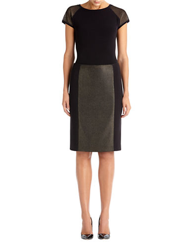 ANNE KLEIN Panel Pencil Skirt