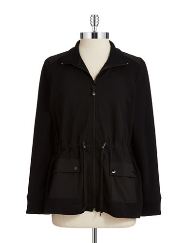 Jones New York Plus Plus Knit Anorak Jacket