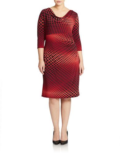 Shop Anne Klein online and buy Anne Klein Plus Sunburst Pleated Sheath Dress dress online