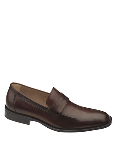 JOHNSTON & MURPHY Knowland Leather Penny Loafers