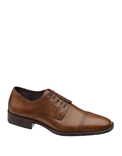 JOHNSTON & MURPHYLarsey Capped-Toe Leather Oxfords