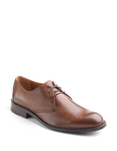 JOHNSTON & MURPHYHartley Plain-Toe Leather Oxfords