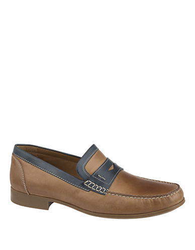 JOHNSTON & MURPHYCresswell Leather Penny Loafers