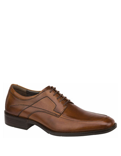 JOHNSTON & MURPHYLarsey Leather Moc-Toe Oxfords