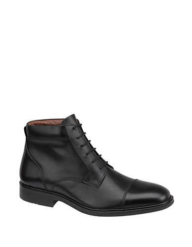 JOHNSTON & MURPHY Tillman Leather Waterproof Cap Toe Ankle Boots