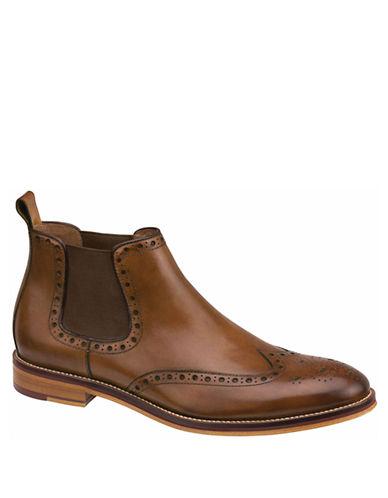 JOHNSTON & MURPHYConard Leather Brogue Gore Ankle Boots