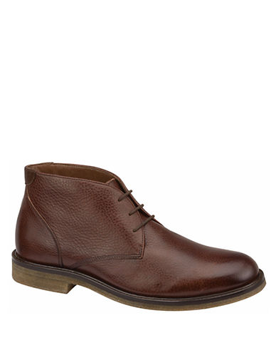 JOHNSTON & MURPHY Copeland Leather Chukka Boots