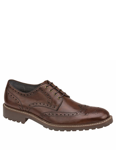 JOHNSTON & MURPHY Hewitt Leather Wingtip Oxfords