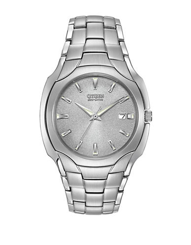 CITIZENMens Eco-Drive Stainless Steel Watch