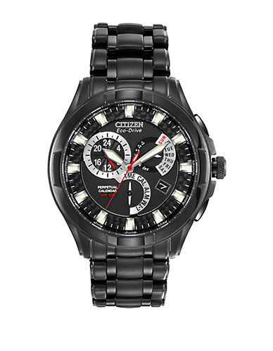 CITIZEN Ladies Eco-Drive Grey Ion-Plated Chronograph Watch