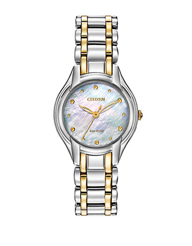 CITIZEN Ladies Eco-Drive Silhouette Watch with Mother of Pearl Dial