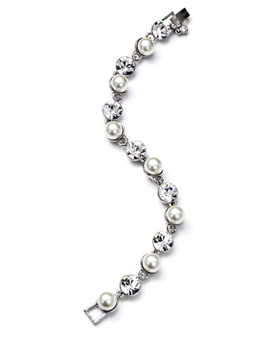 GIVENCHY Crystal and Glass Pearl Flex Bracelet