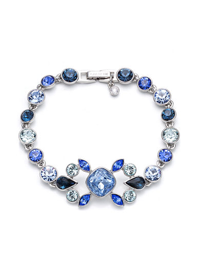GIVENCHY Multi Blue Crystal Bracelet