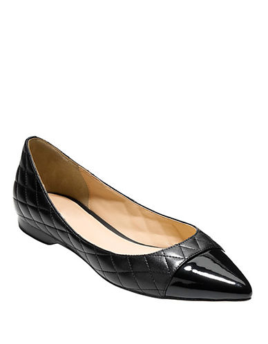 COLE HAAN Felicity Quilted Leather Skimmer Flats