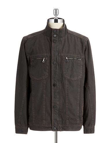 TOMMY BAHAMADenim Moto Jacket