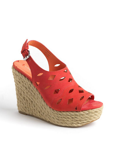 VIA SPIGA Katrina Leather Platform Wedge Sandals