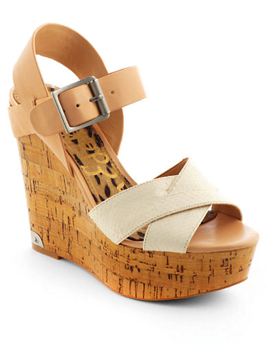 SAM EDELMAN Sasha Leather Platform Wedge Sandals