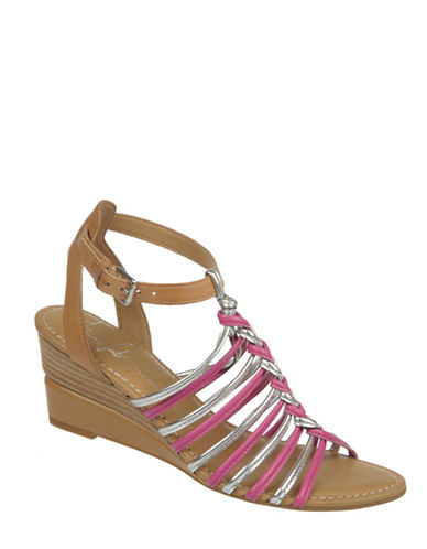 FRANCO SARTO Everly Leather Wedge Sandals