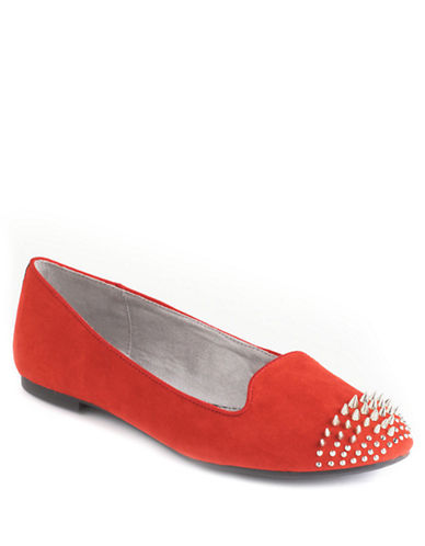 CIRCUS BY SAM EDELMANAustin Spiked-Toe Suede Loafers
