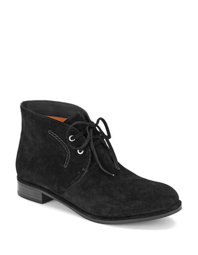 VIA SPIGA Ignia Lace Front Suede Booties