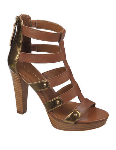 FRANCO SARTOBambu Patent Leather Heeled Sandals