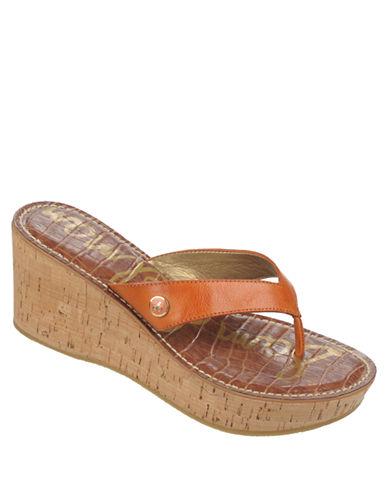 SAM EDELMANRomy Leather Wedge Sandals