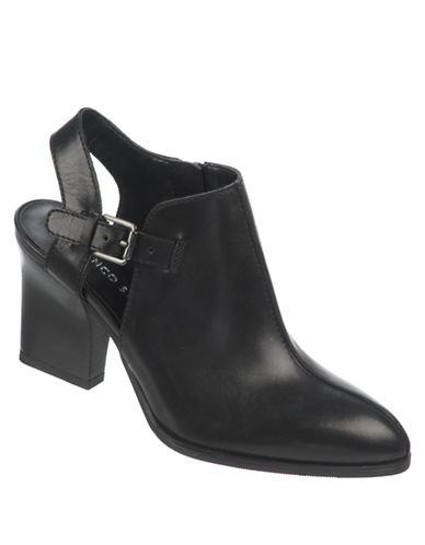 FRANCO SARTO Capsule Nubuck Leather Heeled Ankle Boots