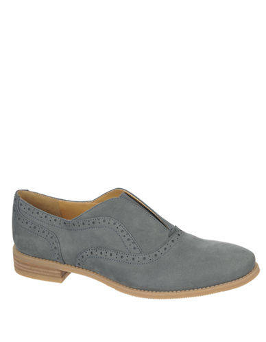 FRANCO SARTO Jenson Nubuck Leather Heeled Loafers