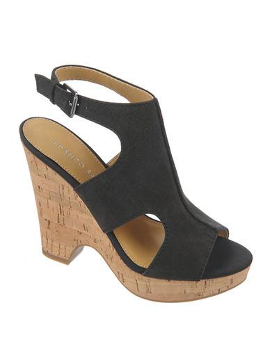 FRANCO SARTOGlamour Gobi Leather Wedge Sandals