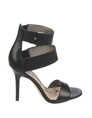 SAM EDELMAN Addie High-Heel Leather Sandals