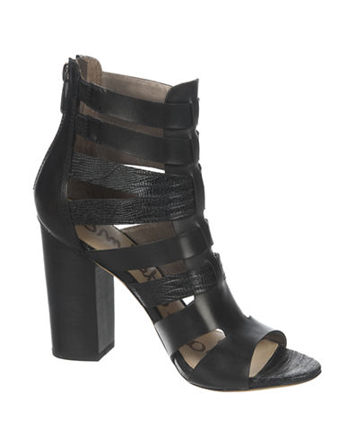 SAM EDELMAN Yazmine High-Heel Leather Sandals