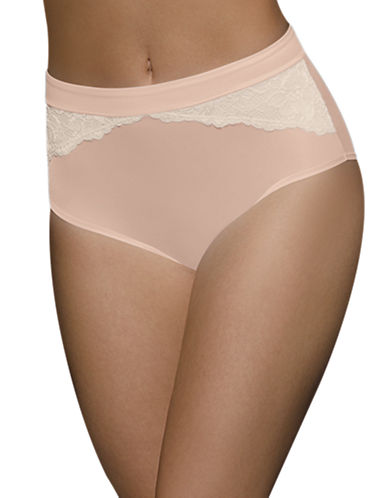 BALI One Smooth U Comfort Indulgence Satin and Lace Modern Briefs