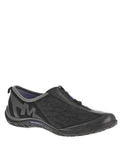 MERRELLLeather and Mesh Zip Sneakers