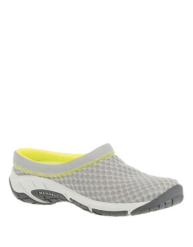 MERRELL Encore Lattice Faux Leather and Mesh Mules