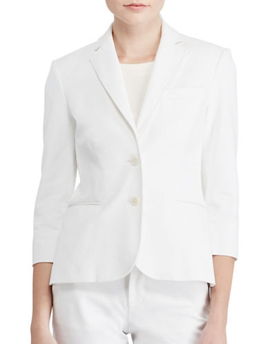 White Fitted Coat | Lord & Taylor