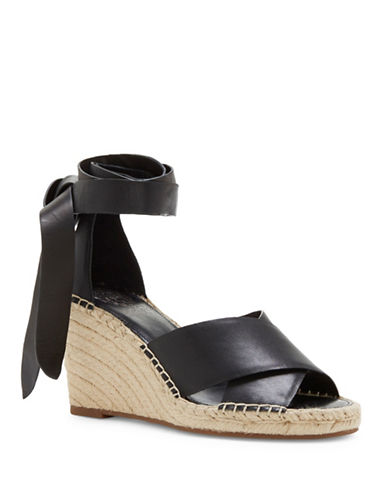 Leddy Leather Espadrille Wedge Sandals