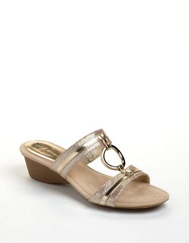 ANNE KLEINOlalla Leather Wedge Sandals