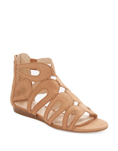 NINE WESTTurntable Leather Gladiator Sandals