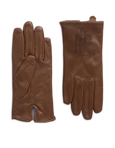 LAUREN RALPH LAURENLogo Peforated Leather Gloves