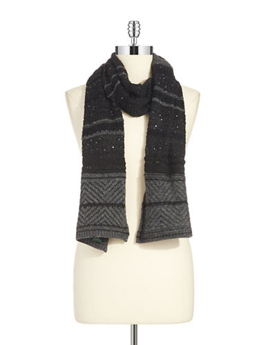 LAUREN RALPH LAUREN Striped Knit Scarf