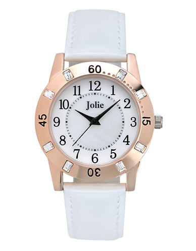 JOLIELadies Crystal Accent Leather Watch