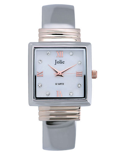 Ladies' Two-Tone Crystal Bangle Watch