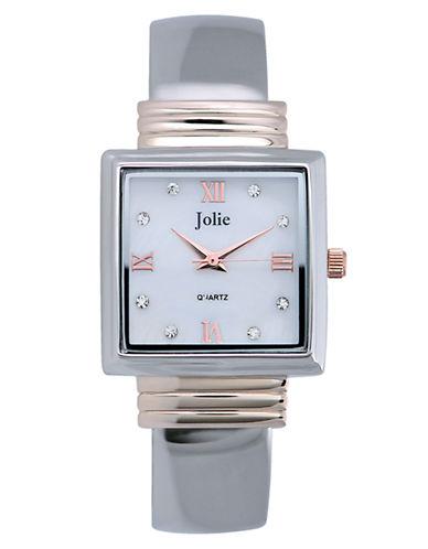 JOLIELadies Two-Tone Crystal Bangle Watch