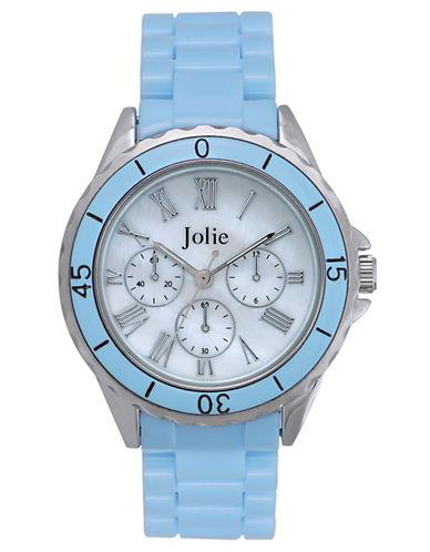 JOLIELadies Light Blue Enamel Chronograph Watch