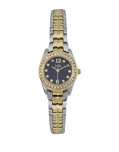 JOLIELadies Two-Tone Crystal-Accented Watch